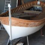 Vue du bateau fini sans peinture
