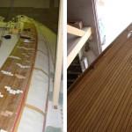 Renouvellement et étanchéité du pont en teck de Lalie, avant- après