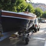Transport vers la mer avec ses parures